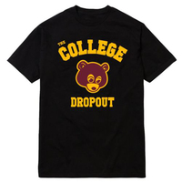 College Dropout T Shirt Men Kanye West Music Printed Gift Short Sleeve Casual T Shirt US