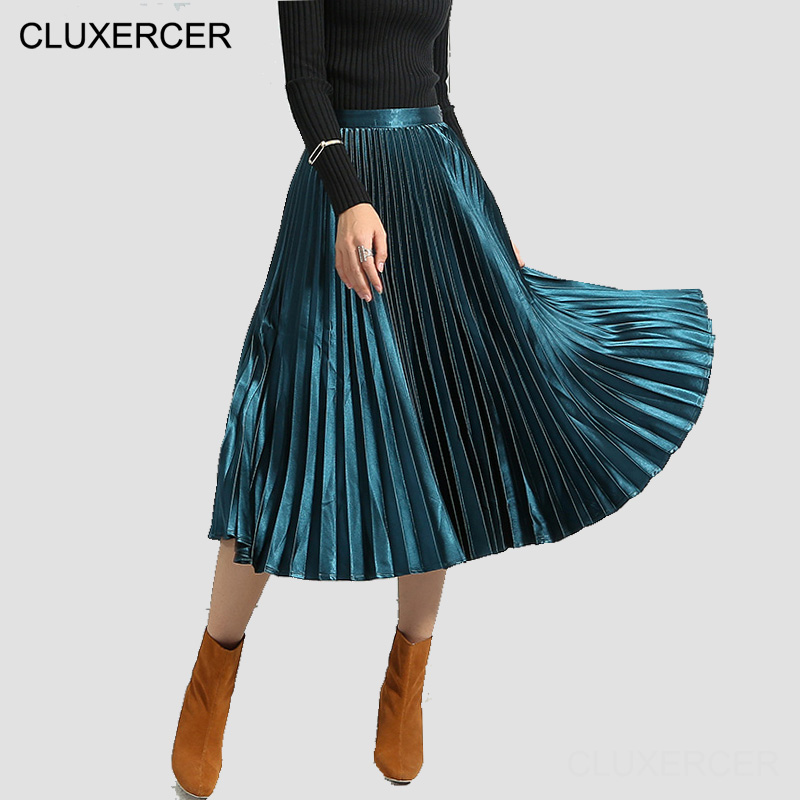 get cheap gray pleated skirt aliexpress