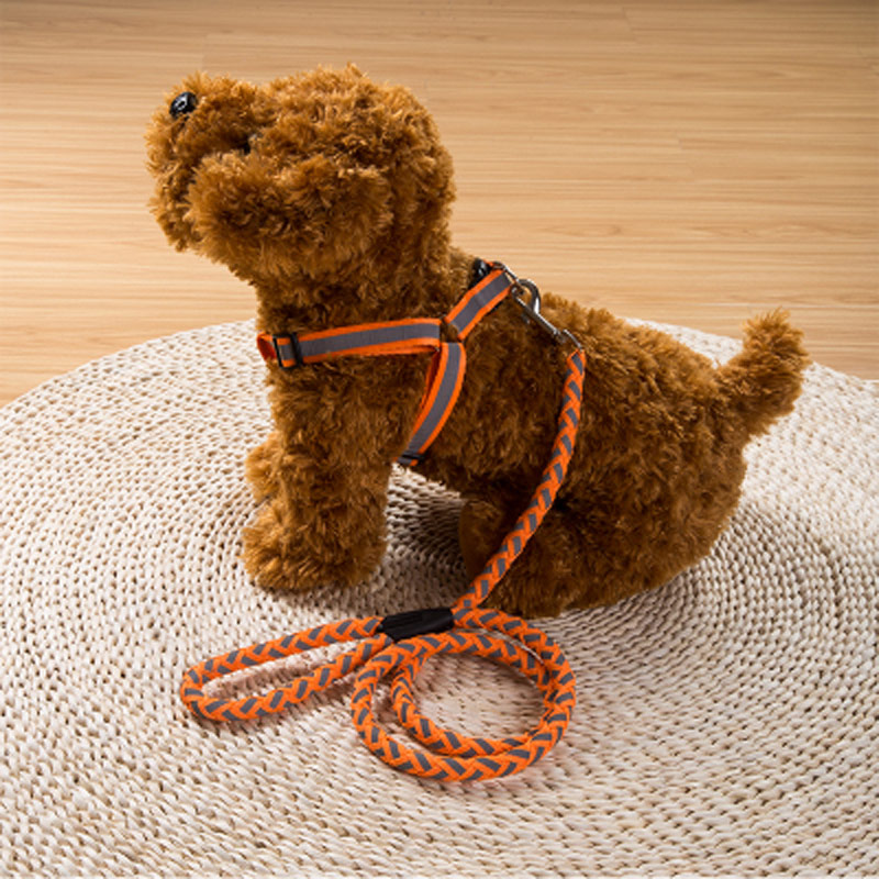 120cm Cat Dog Pet Traction Rope Haulage Rope Necklace Pet Leash Dog Collar Leash Chain Collars Long Braided Nylon