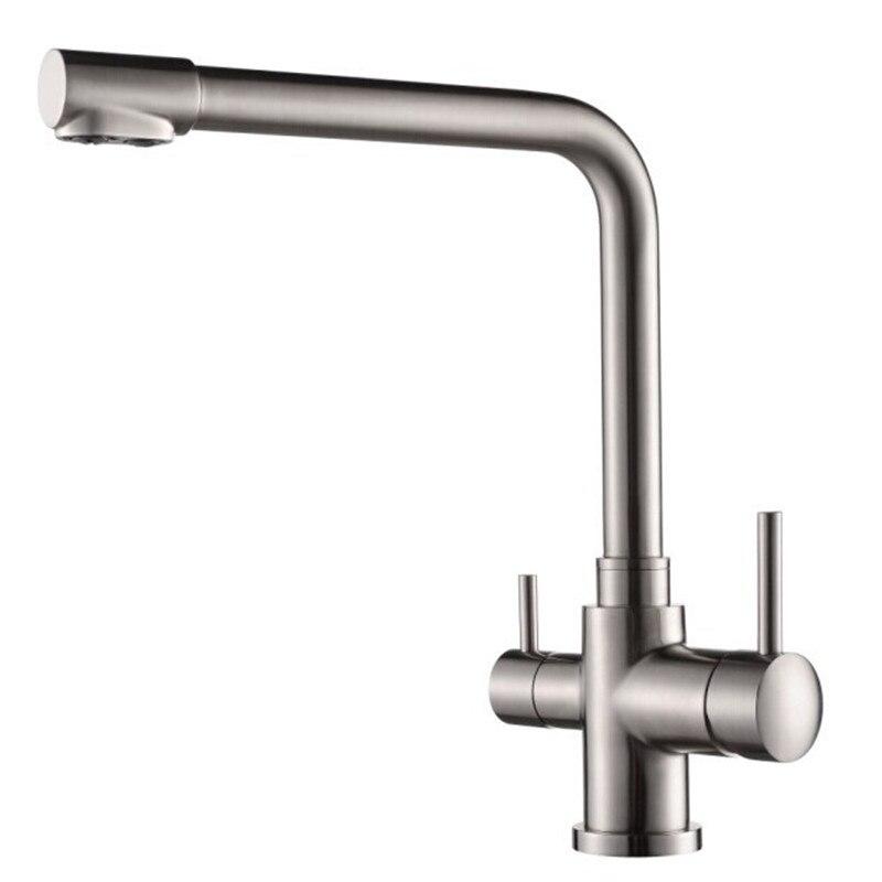 Kitchen Sink Faucet Double Lever Handle