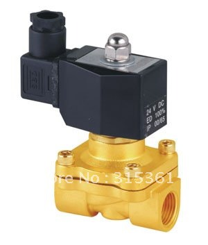 Free Shipping 5PCS 2 Way Solenoid Operated Pneumatic Air Valve Brass 1/2 220V AC DIN Coil 5 way pilot solenoid valve sy3220 3d 01