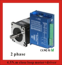2 phase 4.5N.m Closed Loop Stepper Servo Motor Driver Kit 86J1880EC-1000+2HSS86H 2 phase nema23 2nm closed loop stepper servo motor driver kit for cnc machine