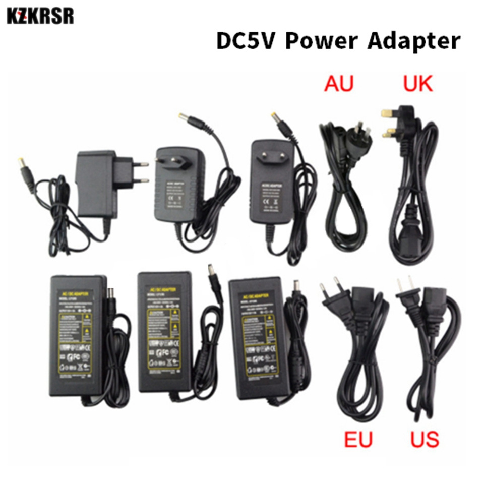 Adaptateur LED de pilote alimentation LED, DC12V 24V 5V alimentation Led, adaptateur 1A, 2A, 3A, 5A, 8A, 10a alimentation led bandes déclairage led