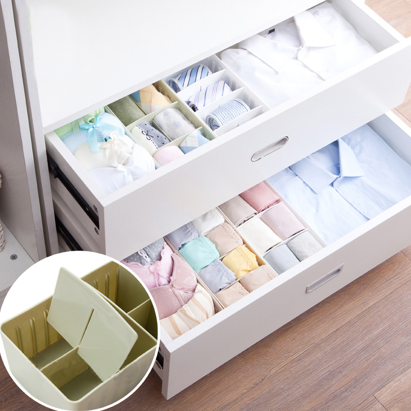 Underwear Storage Box Adjustable Underwear Socks Organizer Box Bag Cosmetic Divider For SocksTies Bra Container