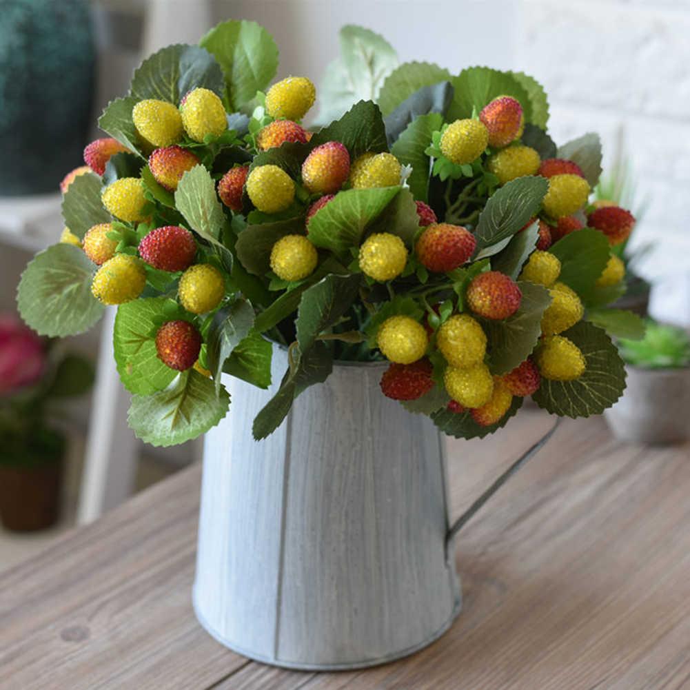 Imitasi Waxberry Cabang Dapur Dekorasi Buatan Waxberry Cabang Buket Pengantin Palsu Buah Pesta Pernikahan Dekorasi Rumah Dekorasi