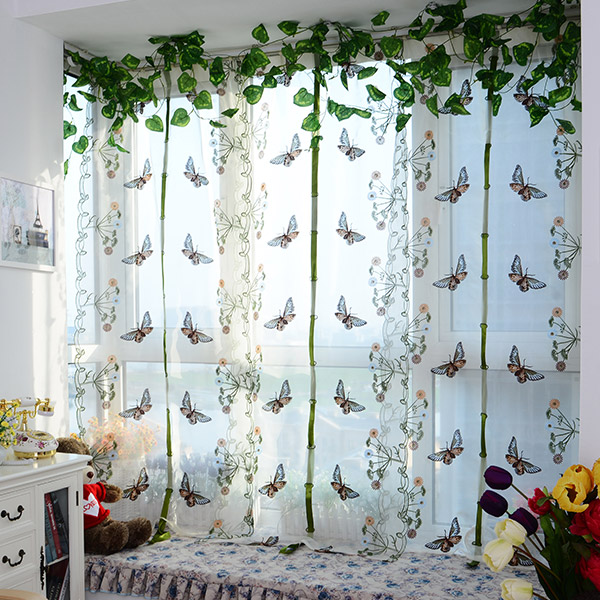 New arrival tulle for window Roman curtain blinds embroidered voile sheer Curtains for kitchen living room the bedroom