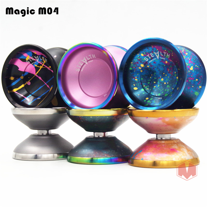 New arrive MAGICYOYO STEALTH YOYO Magical M04 metal Professional yo-yo Athletic competition Diabolo free shipping new arrive magicyoyo stealth yoyo magical m04 metal professional yo yo athletic competition diabolo free shipping