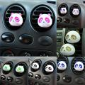 2Pcs Panda Auto Car Air Vent Outlet Perfume Ball Freshener Diffuser Decoration