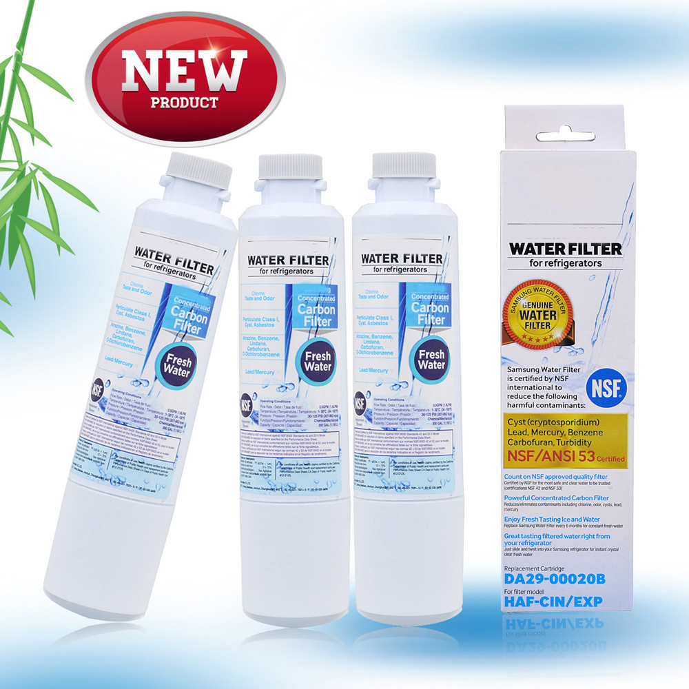 Best Sale Refrigerator Water Filter Active Carbon Water Filter Replacement For Samsung Fresh Water Da29 -00020b 3 Parts  Lot