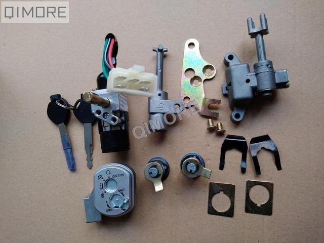 5 wire ignition switch key lock set for chinese zoomer ruckus rh aliexpress com Hydraulic Solenoid Wiring Diagram Starter Solenoid Schematic