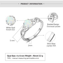 Oval Shape Opal Stone Braided Sterling Silver Ring Jewelry