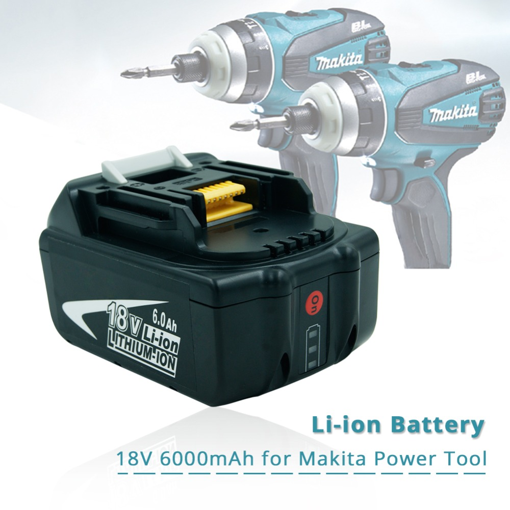 Replacement Makita 18v 6.0Ah Rechargeable Battery w/ LED Light for Makita Power Tool impact driver LXT400 BL1850 BL1845 TD251DZ 18v 6000mah rechargeable battery built in sony 18650 vtc6 li ion batteries replacement power tool battery for makita bl1860