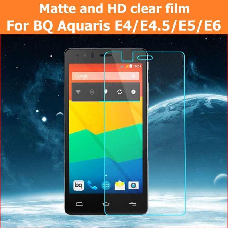 واقي للشاشة مكافحة وهج ماتي فيلم ل BQ Aquaris E4 E4.5 E5 4G E6 HD واضح لامع فيلم لوحة ال سي دي الحرس + القماش + التجزئة حزمة