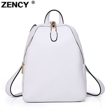 ZENCY Genuine Leather Women Backpack Luxury Brands Natural Real Cow Backpacks Cowhide Woman Tote Bags