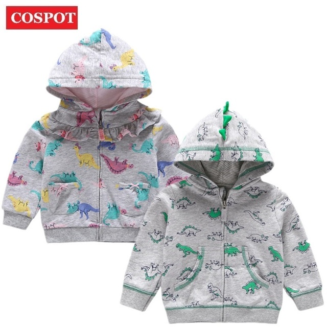 dc579c0c43061 COSPOT Baby Boys Girls Dinosaur Hoodies Bebes Hooded Sweatshirt Hooded Coat  Kids Outfit Baby Girl Clothes Girls Clothes 2019 24D