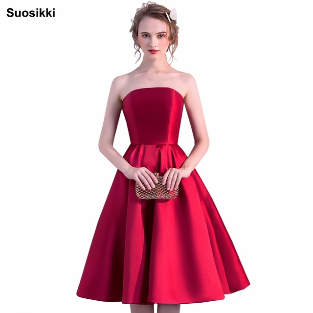 Suosikki A-Line Prom Dresses 2018 Sexy Backless Lace-Up Knee-Length Party Dresses short Prom Gown Real Photos