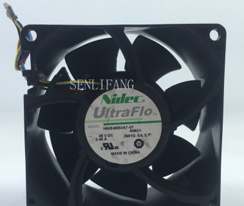 Free Shipping H80E48BUA7-07 Server Square Fan DC 48V 0.46A 80x80x38mm 4-wire