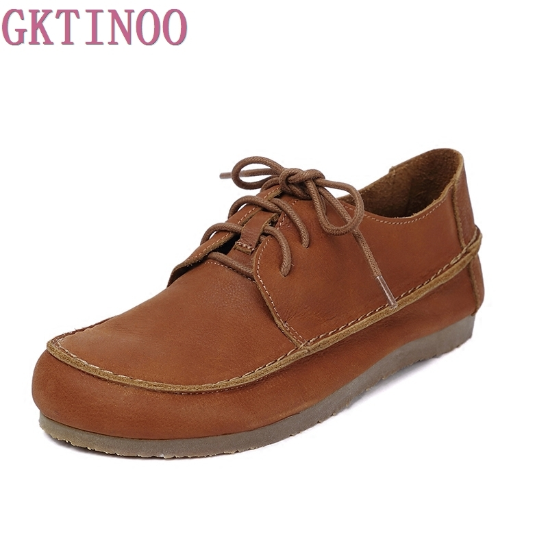Handmade vintage women shoes genuine leather female moccasins loafers soft Comfortable casual shoes flats Plus Size 35-40 cyabmoz 2017 flats new arrival brand casual shoes men genuine leather loafers shoes comfortable handmade moccasins shoes oxfords