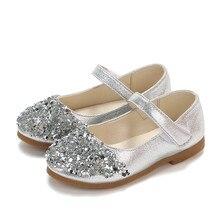 Детская Осенняя обувь; стразы; обувь принцессы с блестками; обувь принцессы для девочек; тонкие туфли; три цвета на выбор;# YL5