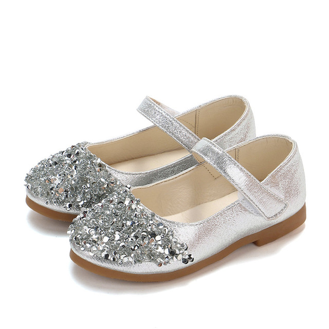 Children s autumn rhinestones small shoes sequins princess shoes girls  princess shoes single shoes three colors optional YLNEW 3ee12765dd18