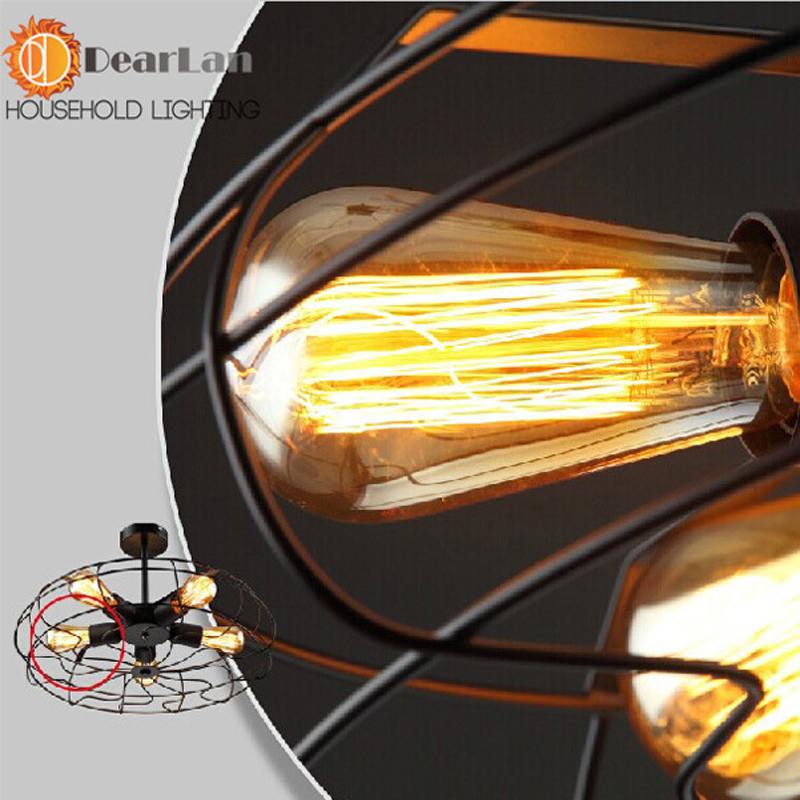 Aliexpress Buy Vintage Edison Fan Droplight Pendant Lamps For BedroomLiving Room Decor5 Bulbs Are UsedBest Price Lights From Reliable Lamp