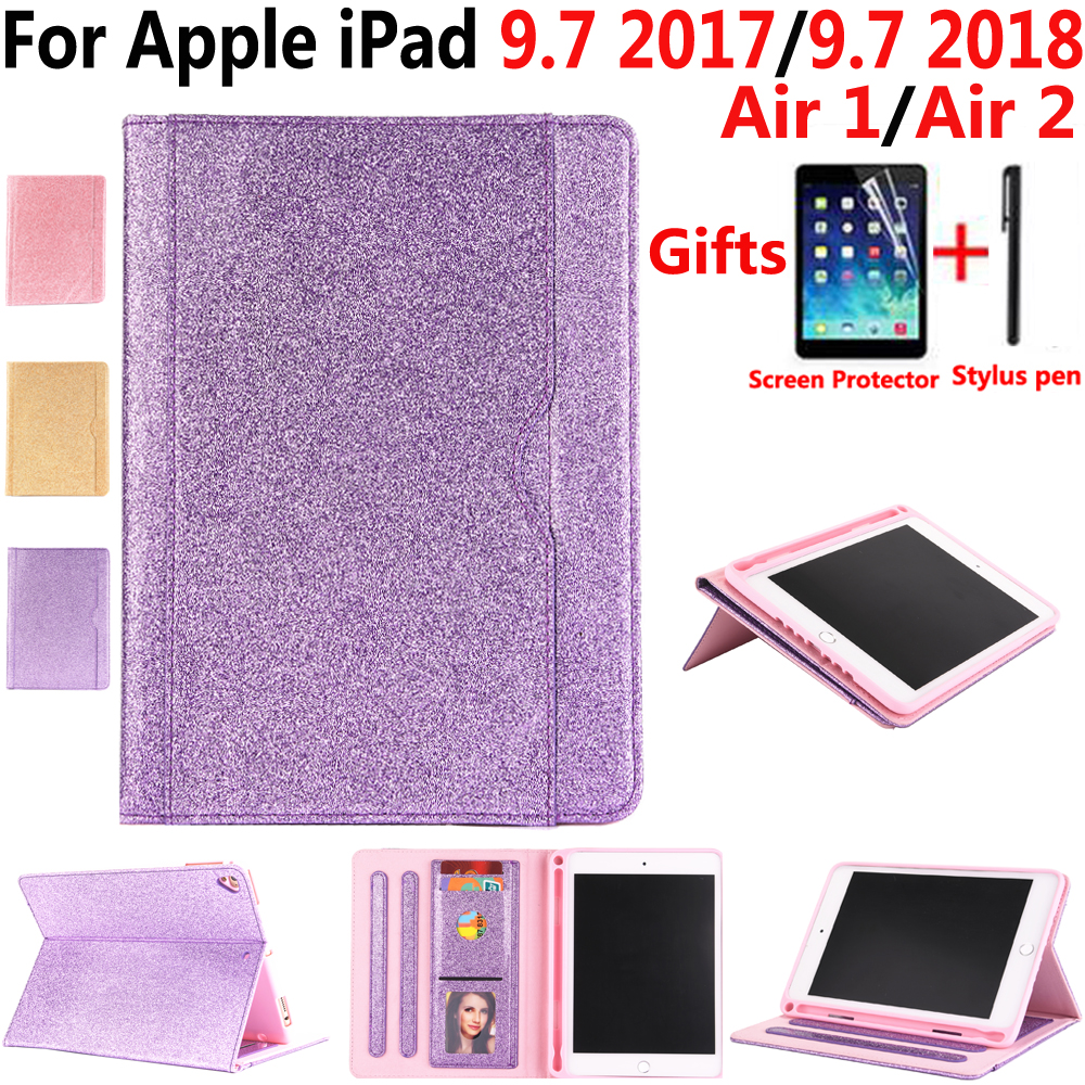 Tablet Accessories Intelligent For Apple Ipad 9.7 2017/2018 5th/6th Generation Leather Case With Pencil Holder Flip Fashion Cover For Ipad Air 1/air 2/pro 9.7 Tablets & E-books Case