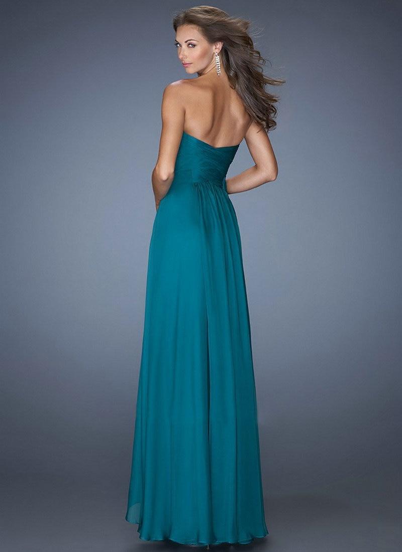 Royal Blue Evening Dresses 2015 Fashion Chiffon A Line Sweetheart ...