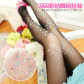 Colorful diamond fine mesh tights Ultra-thin diamond tights Rhinestone fashion tights