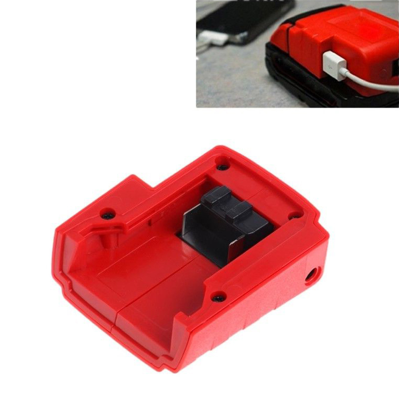 Red USB Power Charger Adaptor Cellphones Mp3 Players Digital Cameras for Milwaukee 49 24 2371 M18/M12/XC Heated 15 21V Jackets Power Tool Accessories    - AliExpress