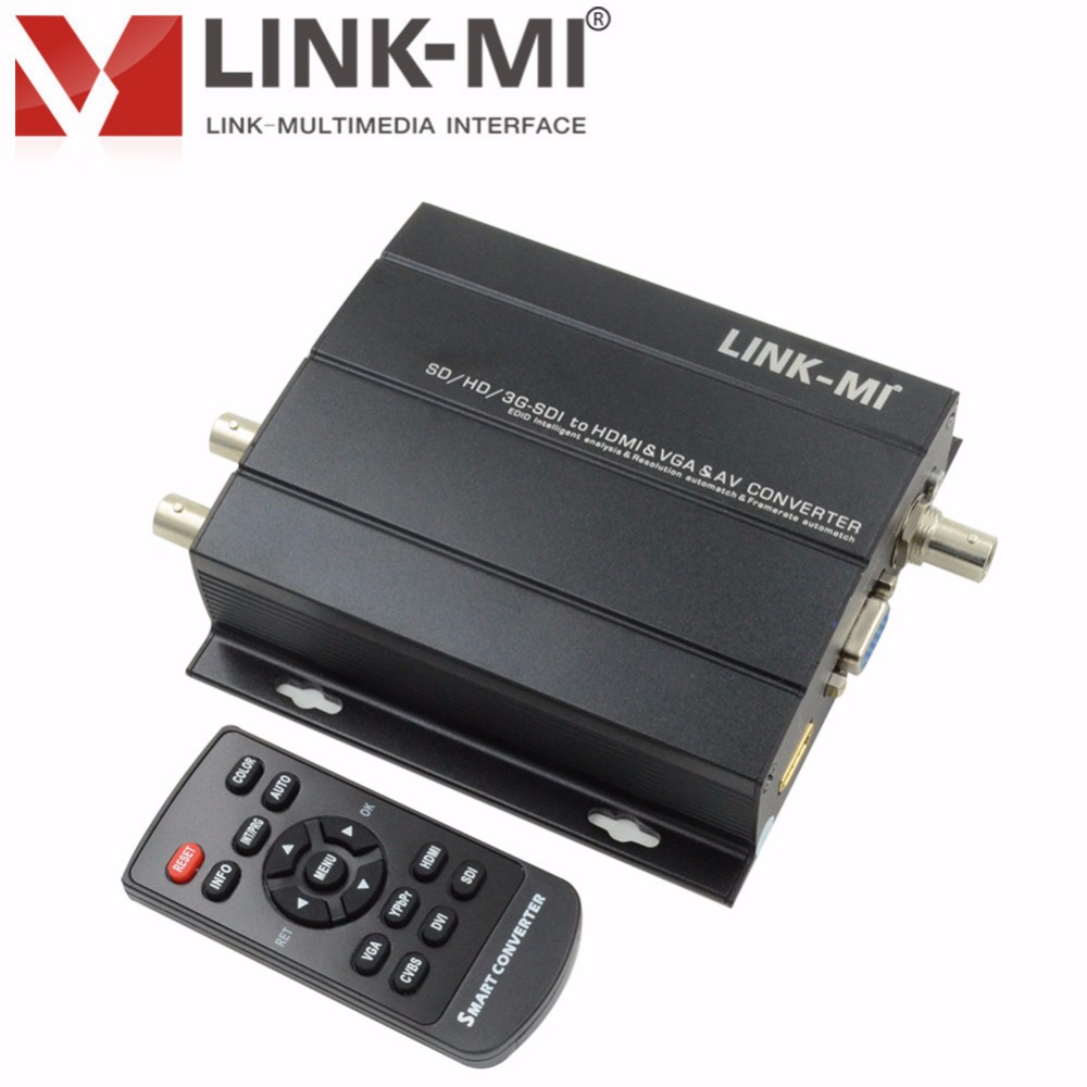 LINK-MI LM-SC5810P Convertitore multifunzione SD / HD / 3G-SDI a HDMI - Home audio e video