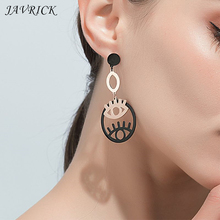 Fashion Retro Women Earrings Round Hollow Big Eyes Shape Earring Ear Jewelry Gifts