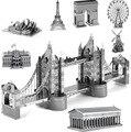 BOHS Liga Modelo Em Miniatura de Metal Eiffel Inclinada Ponte Da Torre de Londres Edifício Brinquedos do Enigma 3d Grande Arquitetura do mundo