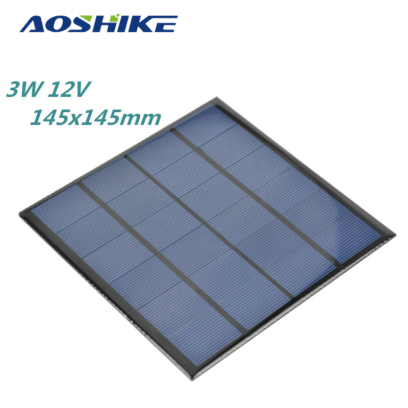 3W 12V Solar Panel China Flexible Solar Cells DIY Polysilicon Plate 145x145mm Painel Solars Charger painel solares 300w mono painel solar 12v solar panel battery charger solar panel manufacturers in china sun panels sfm 300w