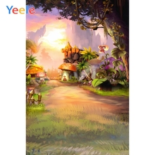 Yeele Fairy Jungle Mushroom Princess Photography Backdrop Children Baby Birthday Party Photographic Background For Photo Studio