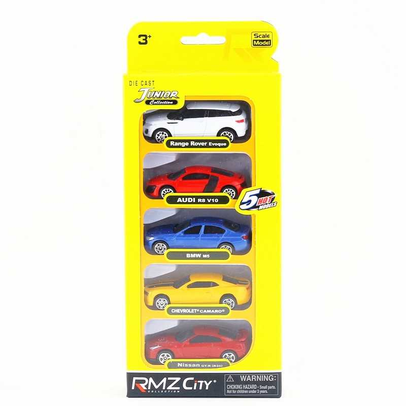RMZ City/1:64 Scale/Diecast Educational Model/Audi Chevrolet Nissan Super Sport Toy Car Set/Collection/Gift For Children/Small