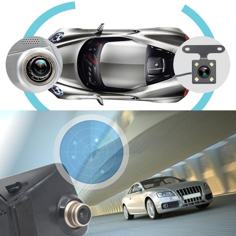 7 pouces 1080P voiture DVR GPS voiture rétroviseur moniteur caméra arrière véhicule enregistreur de conduite