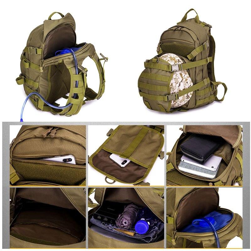 Sac tactique 25L sac à dos militaire Molle hommes sacs de voyage en plein air Fanny chasse Camping sac à dos armée randonnée sac tactique XA107WA - 3