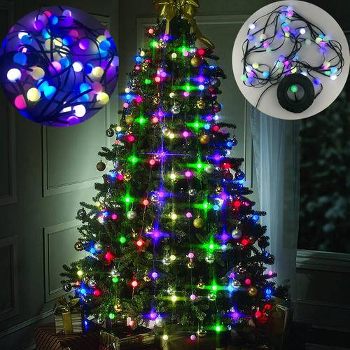 48led bulbs christmas tree multi colored lights decor stackable lights festival light hanging tree us plug eventparty supplies in party diy decorations
