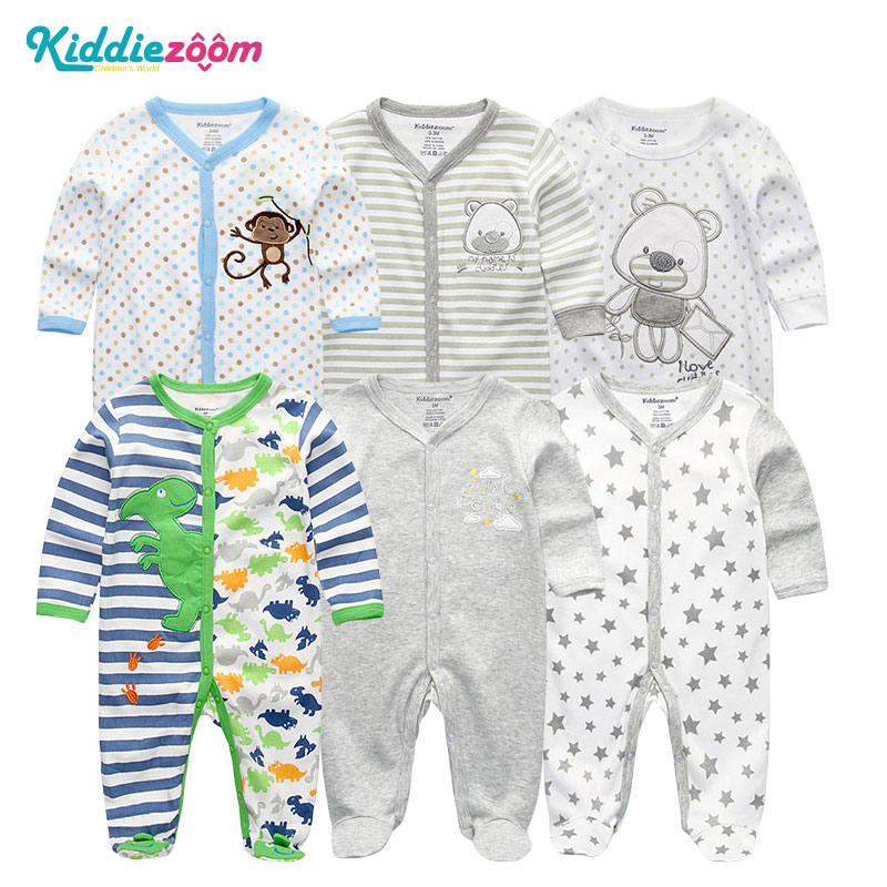 6Pcs/lots Baby Clothing Newborn jumpsuits Baby Boy&Girls Romper Infant Product Roupa de bebe 3 6 9 12M Baby Japamas Clothes
