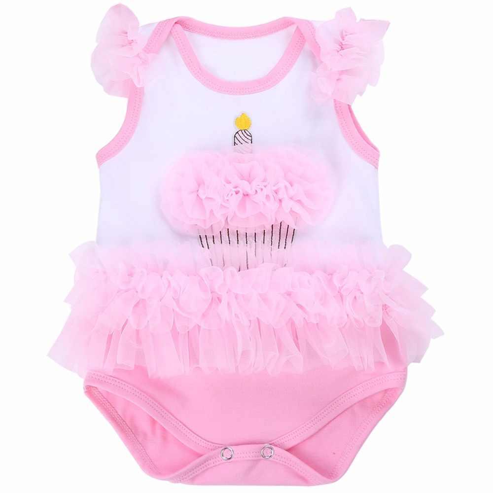 214b649e1 Pink Cake Smash Princess Party Baby Girl Clothes Ruffle Lace Short;1st  Birthday Ropa Bebe