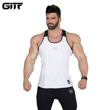 GITF Новая летняя форма для гимнастики спортивные топы для мужчин хлопок жилет для бега без рукавов спортивная футболка Фитнес Топ Бодибилдинг майка Топы