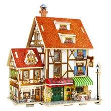 Robotime 15 Types DIY Wooden House Ornament Room Home Desk Table Decoration Figurine Miniature European Gift for Kids Girl F124