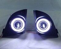 EOsuns COB Angel Eye Led Daytime Running Light DRL Halogen Fog Light Projector Lens For Honda