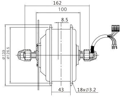 Cheap hub motor