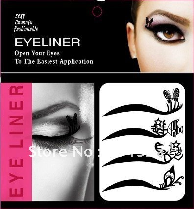 wholesale 50setslot 2012 fashion new temporary eye tattoo transfer eyeshadow stickers eyeliner makeup for halloween in eyeliner from beauty health on - Eyeshadow For Halloween