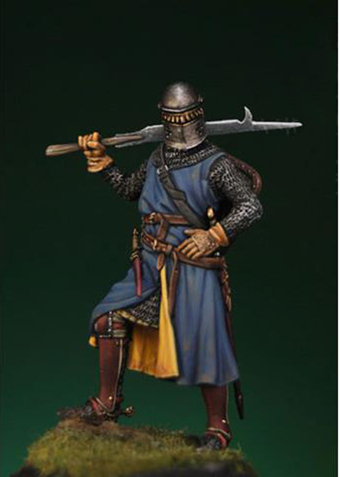 Assembly Unpainted  Scale 1/32 54mm Medieval Knight Standing 54mm  Historical Toy Resin Model Miniature Kit