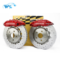 KOKO RACING WT9040 brake kit green brake caliper 55cm concave mouth curved pattern brake rotor for Honda Civic EP3 Type 2004