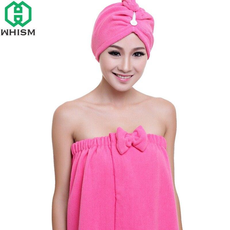 WHISM Quickly Dry Hair Hat Microfiber Hair Towel Super Absorbent Girls Cap Women Drying Towel Ladies Head Wrap Hat Bathing Tool