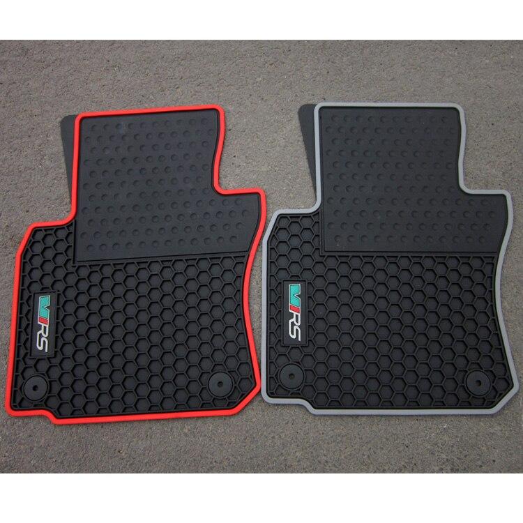 No Odor Custom Rubber car floor mats for Skoda Octavia 2006 2014year waterproof nonslip latex carpets