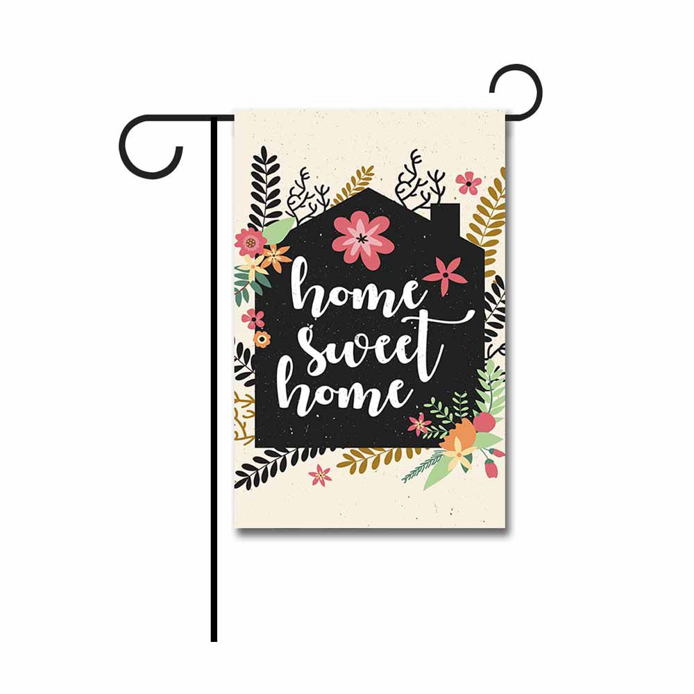 Home Sweet Home Spring Summer Small Garden Flag Beautiful Flowers